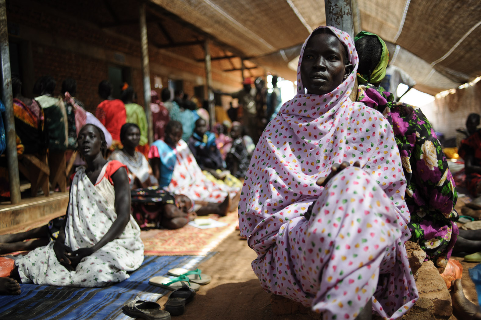 An expectant mother sits in the pre-natal clinic at Aweil hospital, as the nascent country awaits secession.