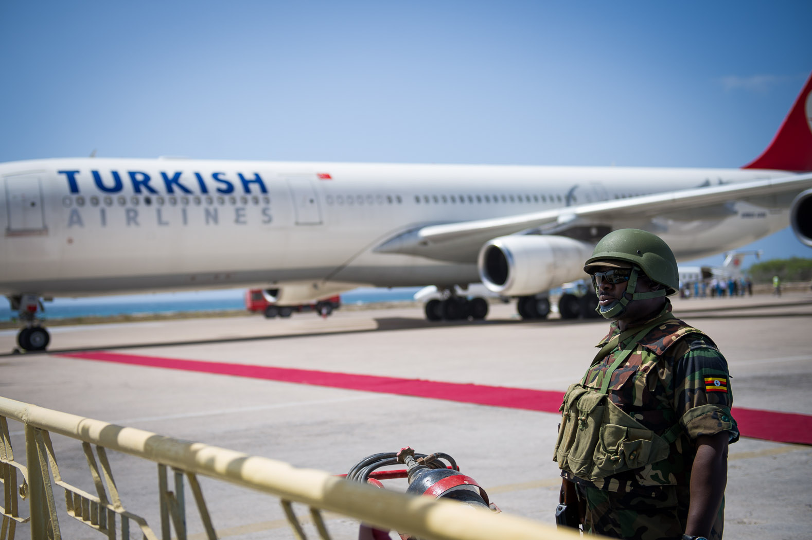 Increased security has meant an increase of investment in the Mogadishu. This was the first long-distance international commercial airliner to land at the airport in two decades; as Turkish Airlines began a regular, scheduled service to the city.