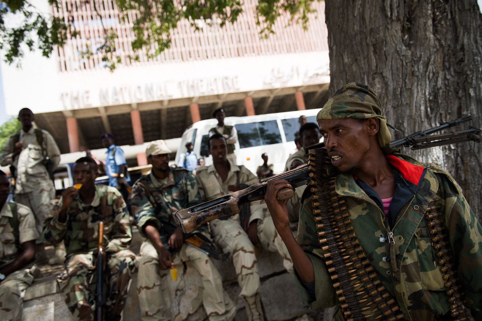 A strong presence of security forces remain in the city, however, with regular insurgent attacks mounted by al-Shabaab.