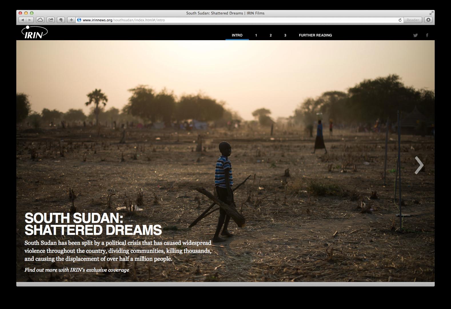 A screenshot of the mini-site
