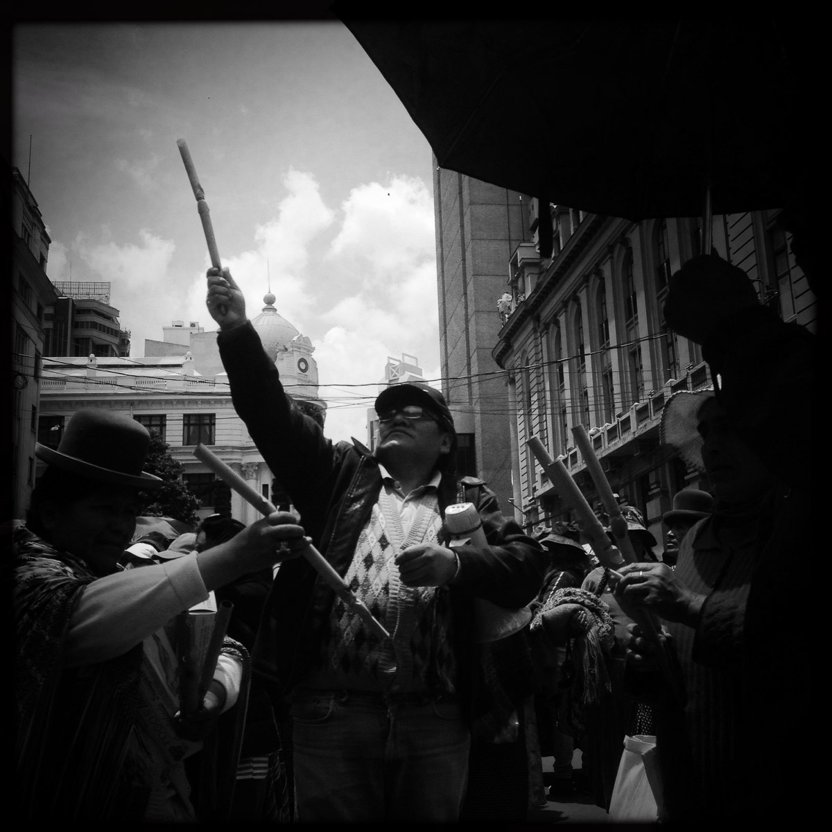 La Paz seems to have protests of some form or another every day