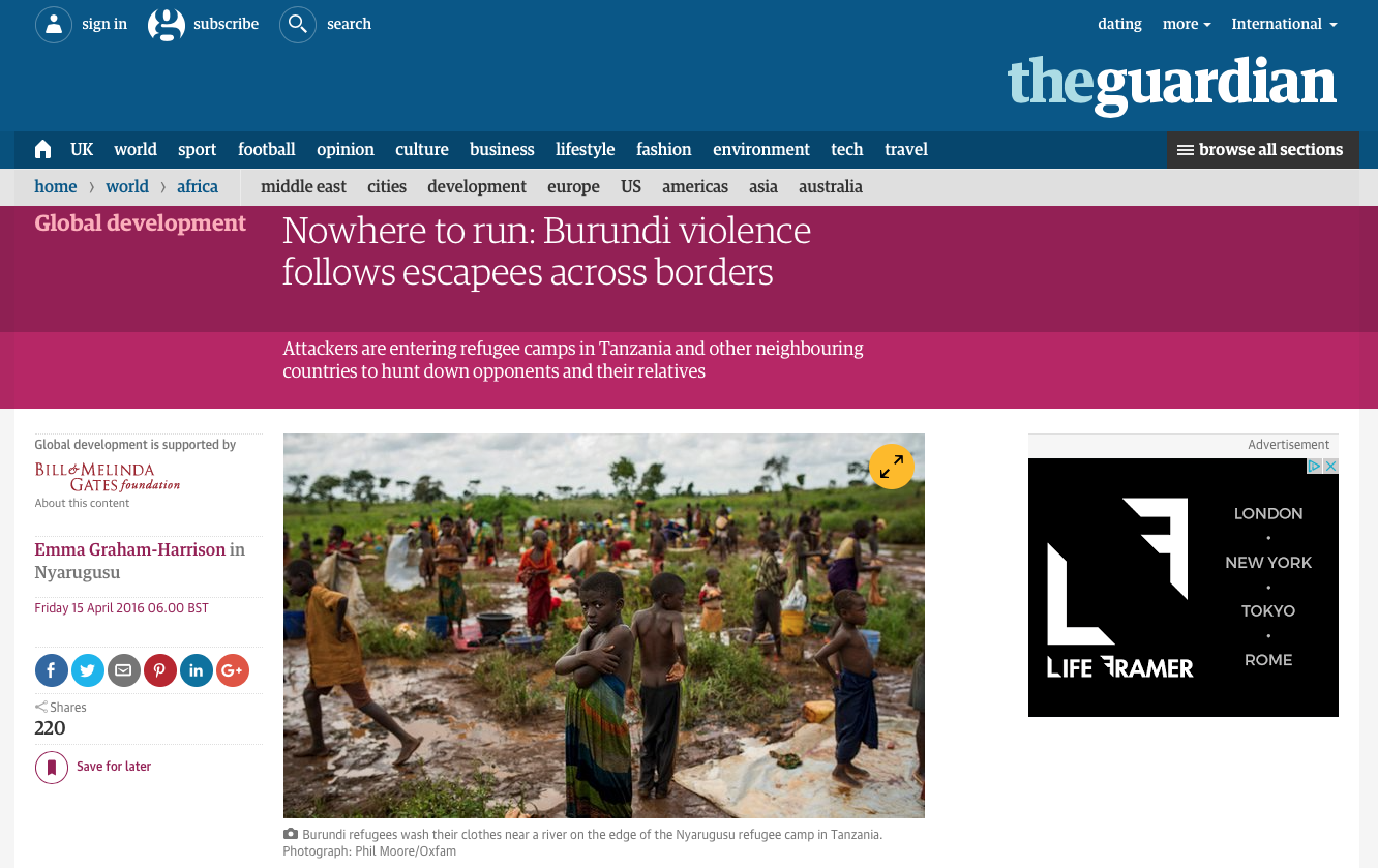 The Guardian (accompanying photographs)