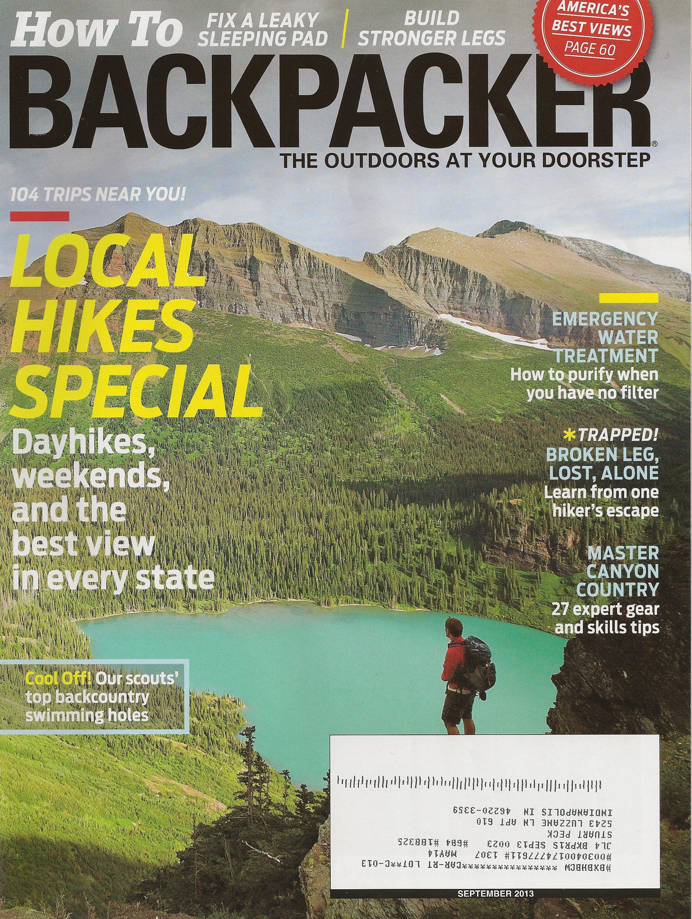 River to River Trail       BACKPACKER magazine - September 2013