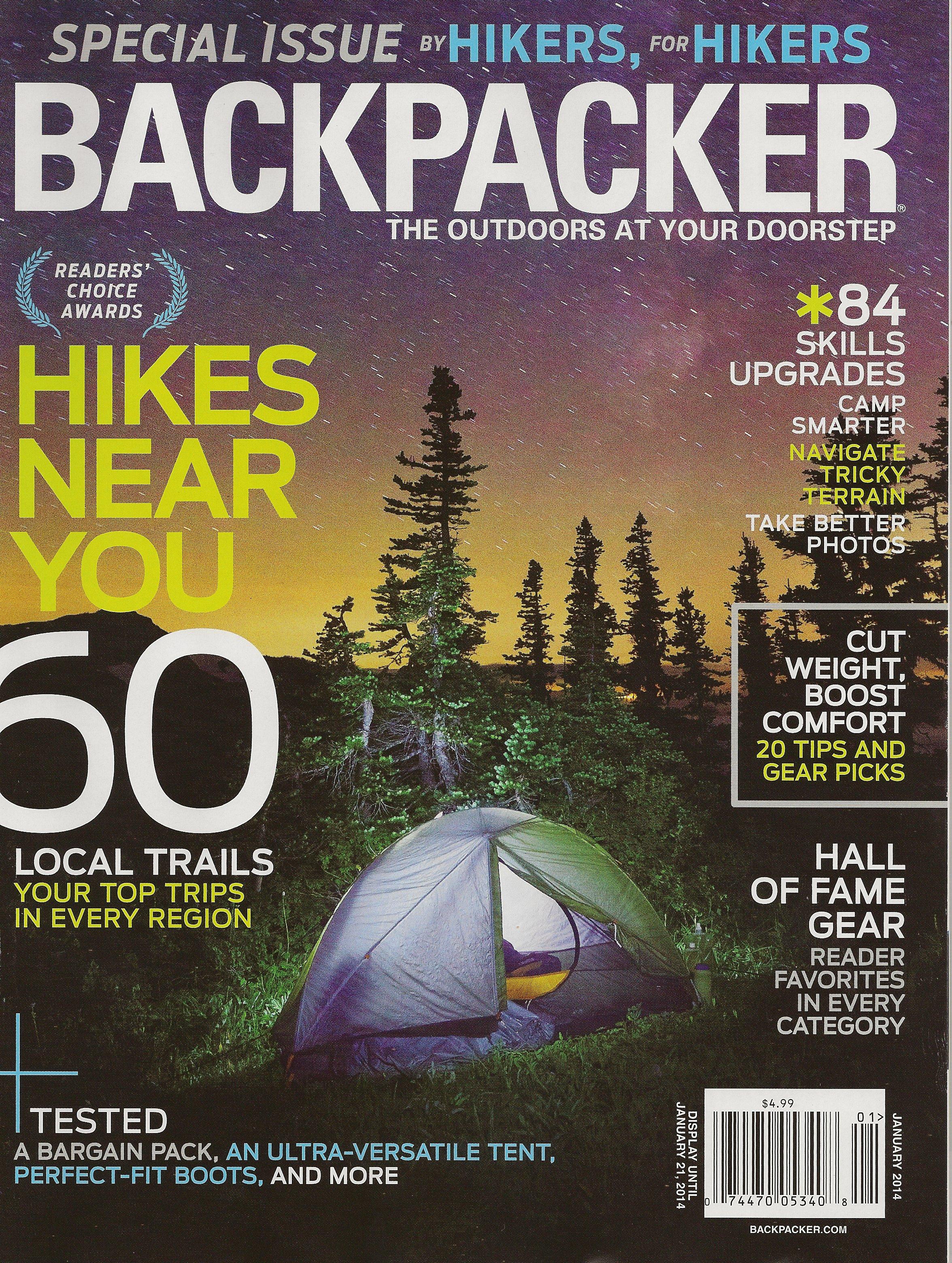 South Region - Reader's Choice    BACKPACKER magazine - January 2014