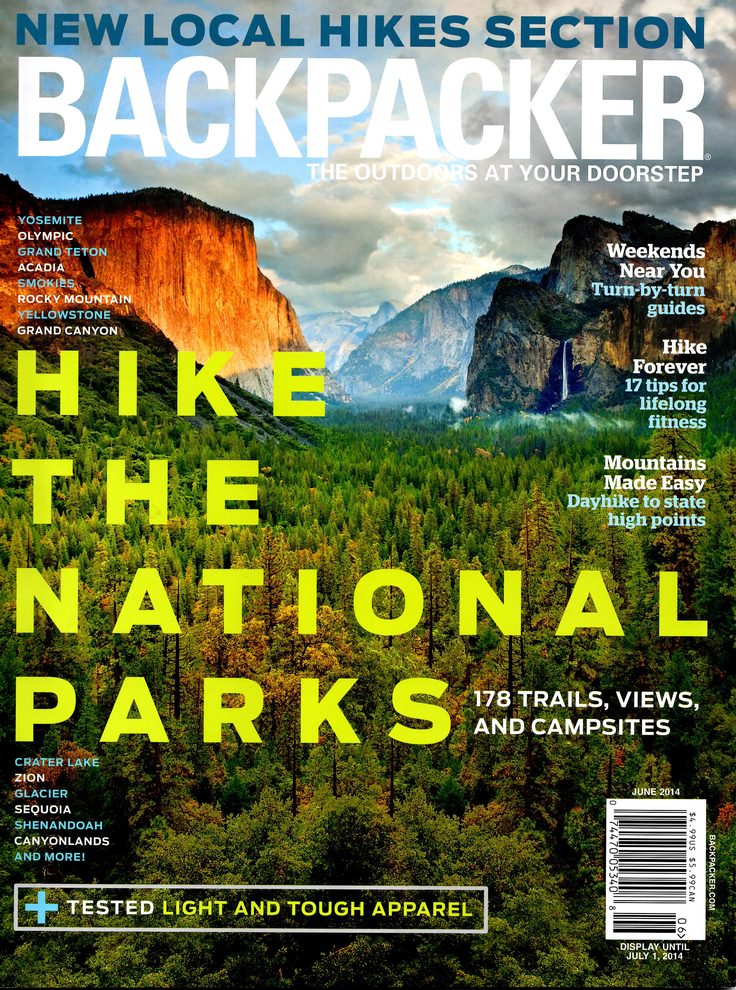 Knobstone Trail   BACKPACKER magazine - June 2014