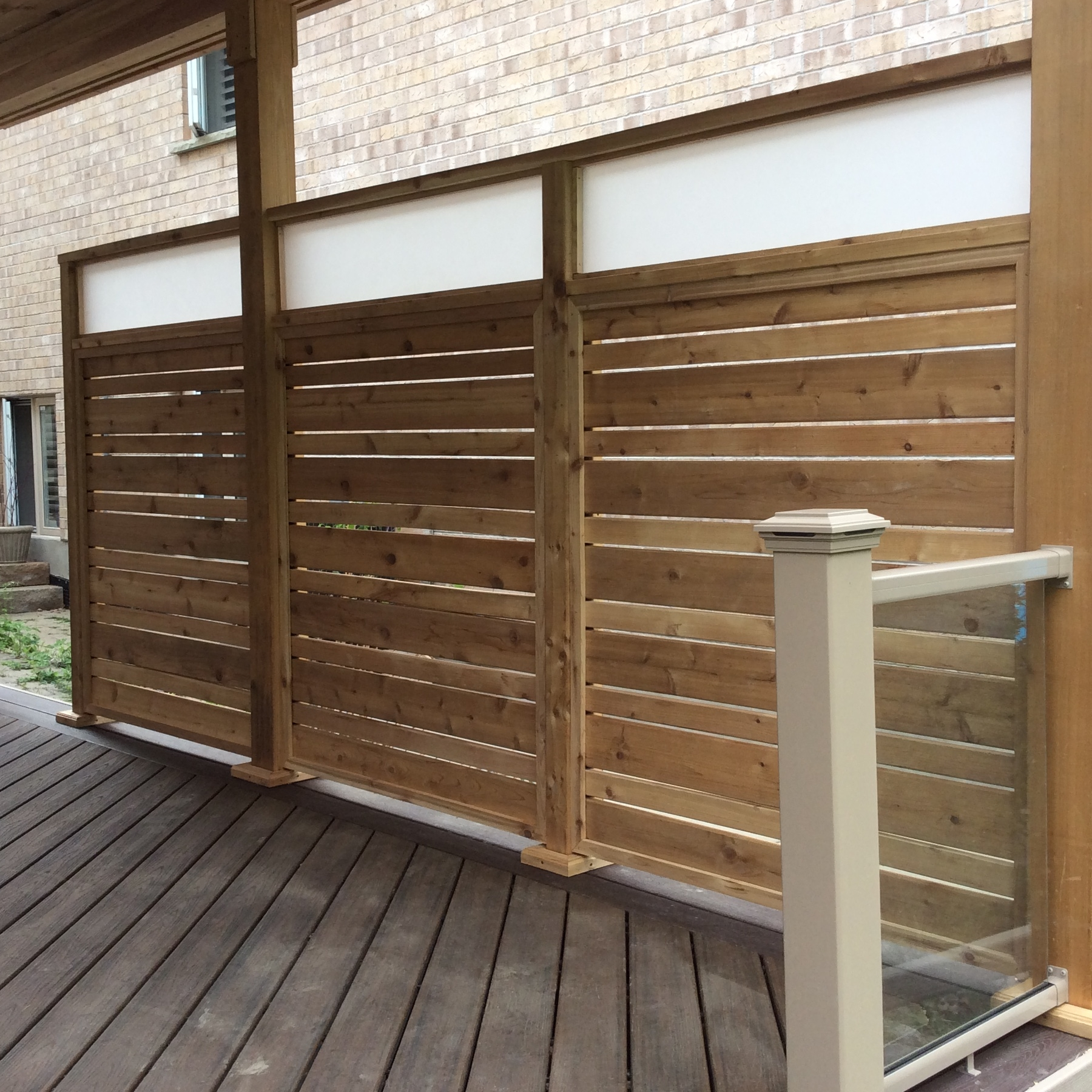 Frosted Top Cedar Screen