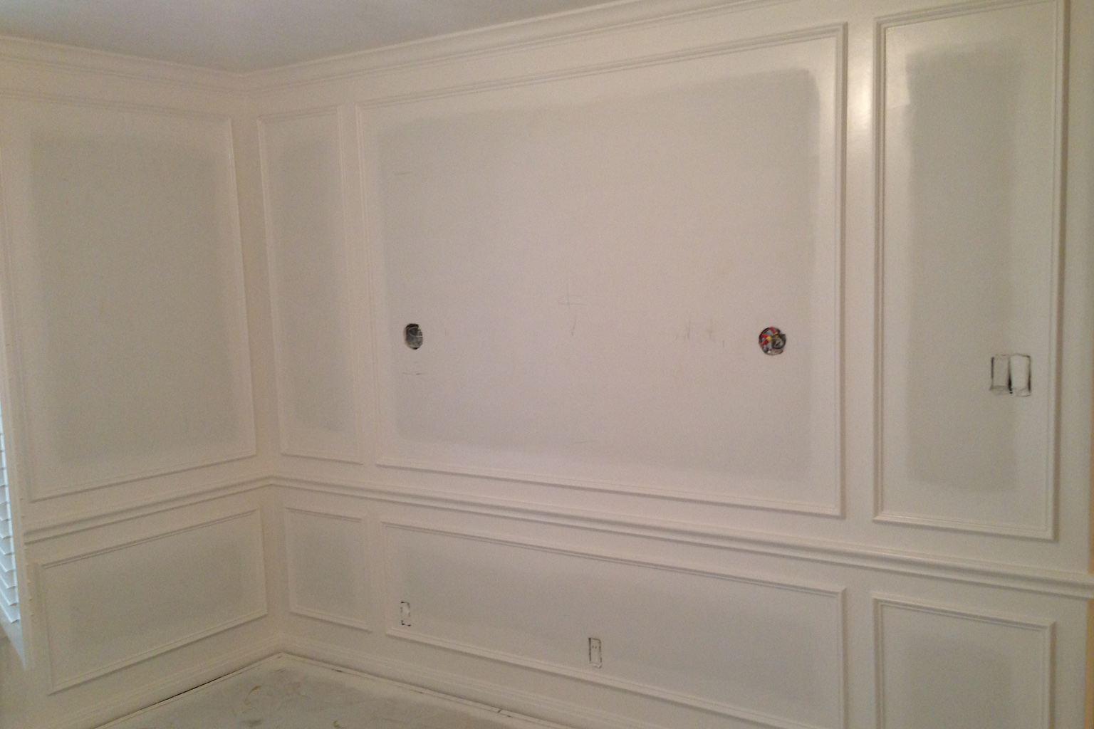 The White Flour enamel is going to look very pretty combined with the soft blue of the walls.