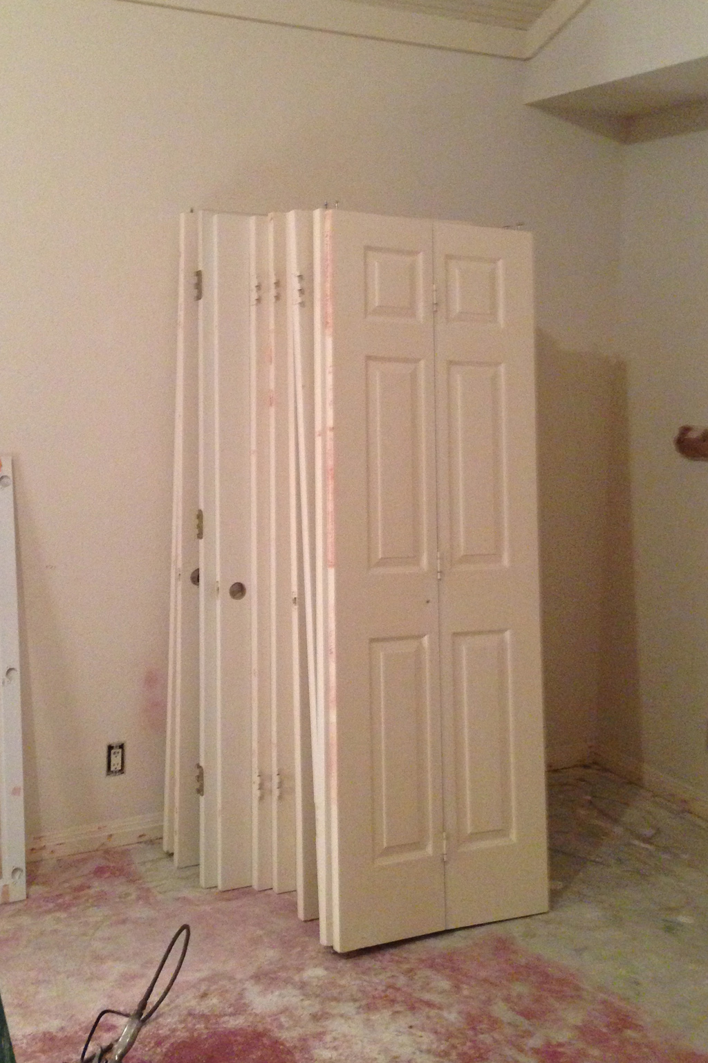 Just a few of the interior doors that have all been sanded, cleaned and are ready to be painted.