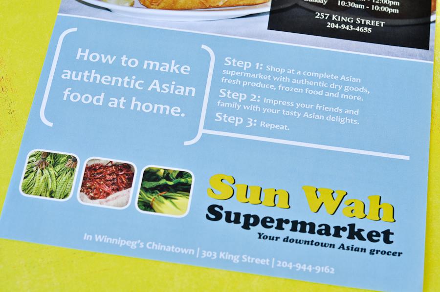 Sun Wah Supermarket ad