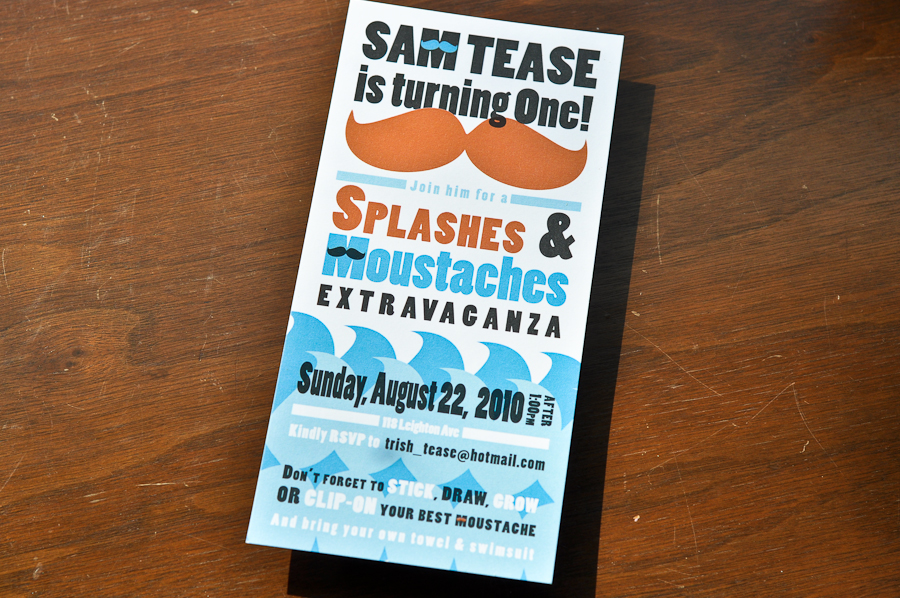 Sam's 1st Birthday invite