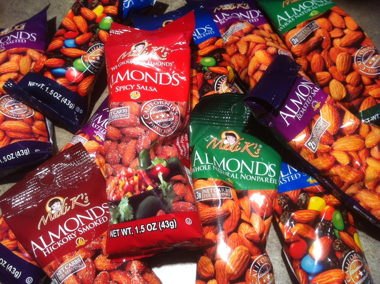 almonds courtesy of Madison's Grand Avenue Chocolates