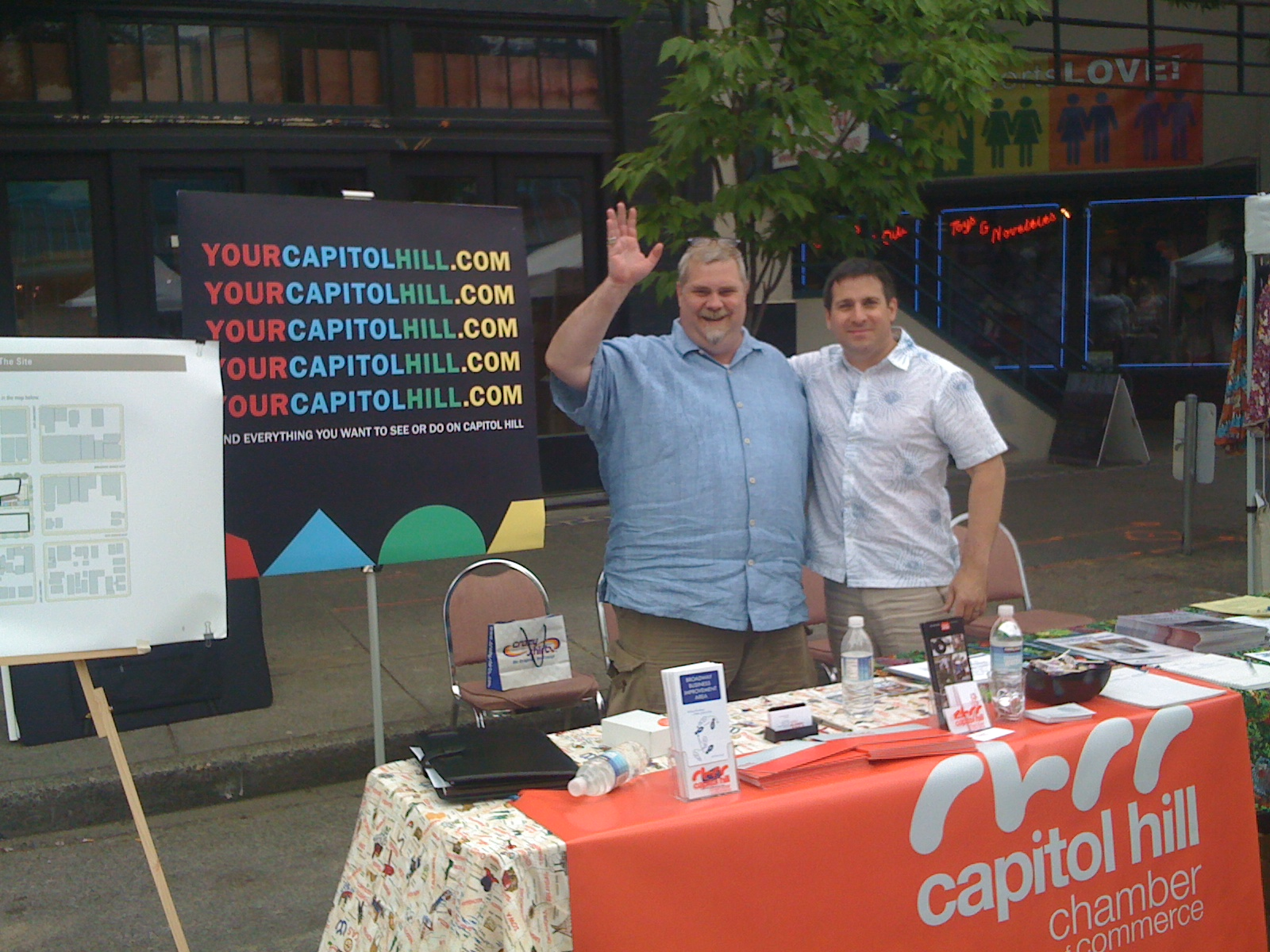 Mike and Michael Wells at CH Block Party.JPG