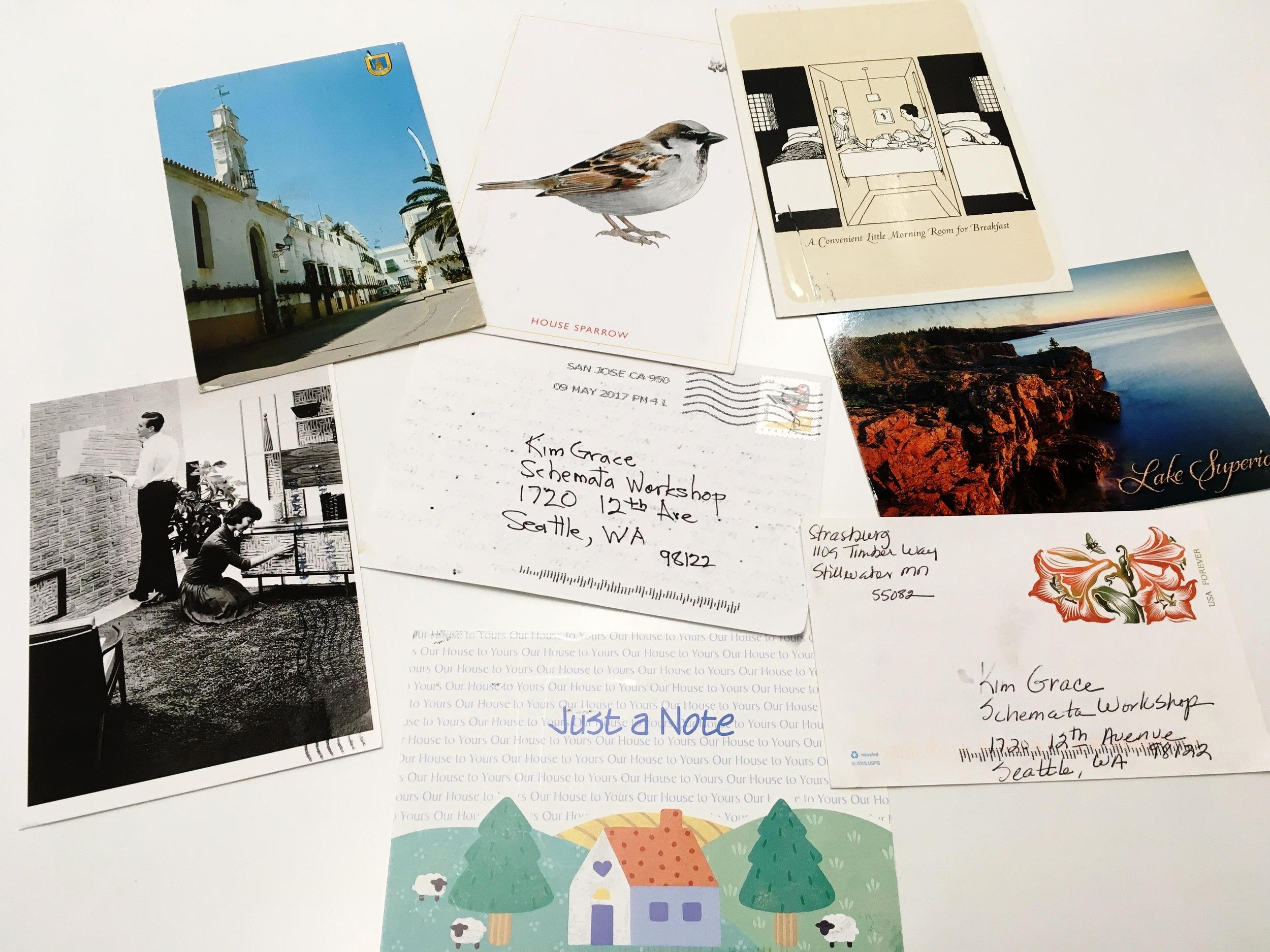 Mysterious handwritten postcards....