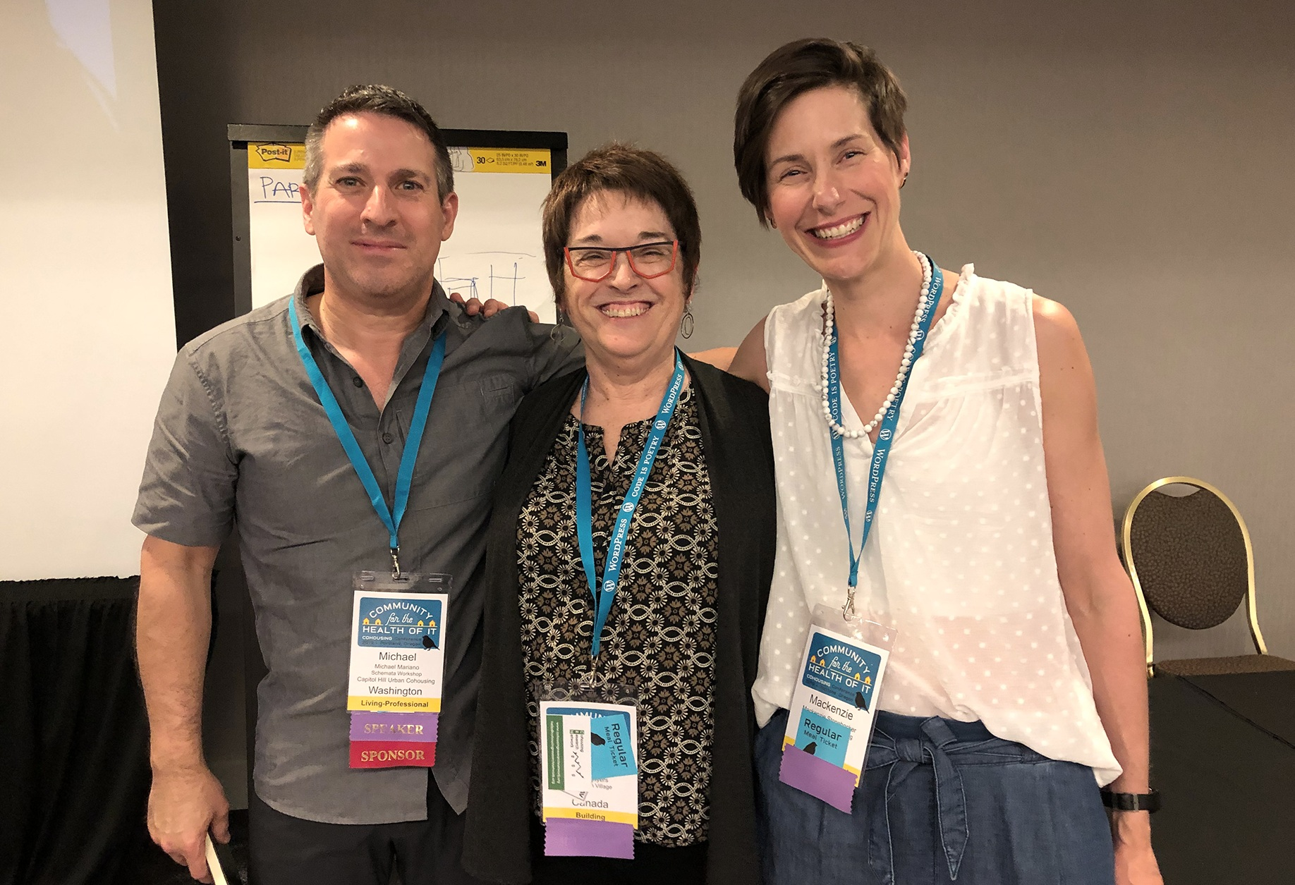Mike presented case studies on urban cohousing with Kathy Sayers and MacKenzie Stonehocker of Vancouver, BC