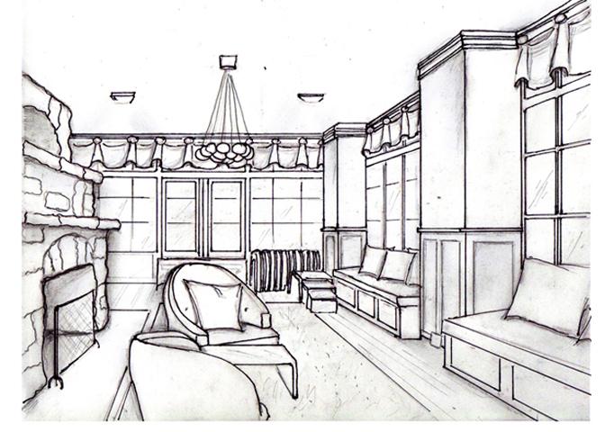 3D Sketch of Sunroom
