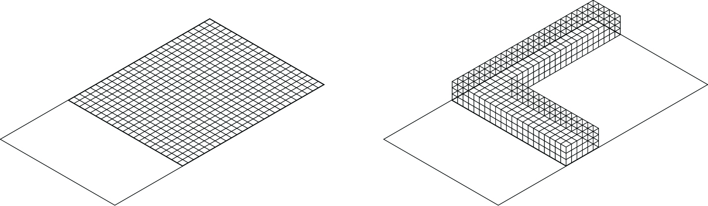A modular grid and universal space
