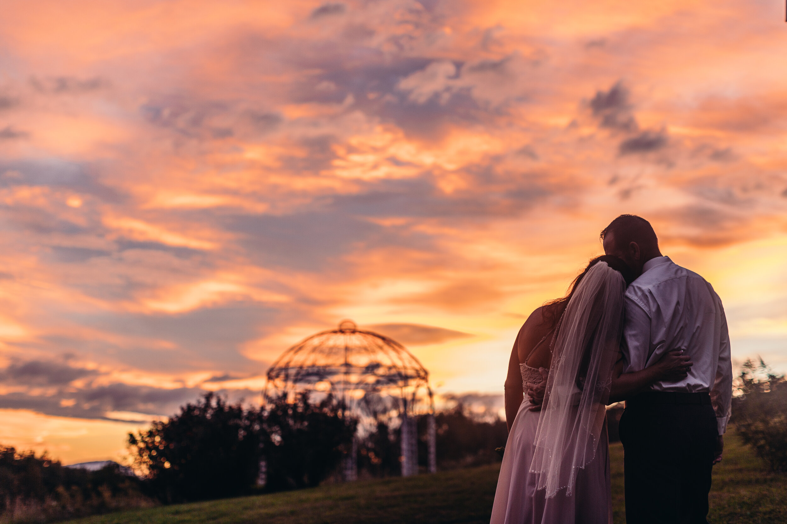 """""""I Could Not Ask For Anything Better…"""" - From start to finish, everyone we dealt with was courteous, professional and seemed genuinely interested in our day and making things as seamless and easy as possible.  There were no hidden costs or surprises.  The day was perfect, the grounds and facility stunning and the sunset looked like a painted backdrop.  I would recommend Flower Mountain to anyone looking for a beautiful wedding in Tennessee.-Leigh & Jason Terry"""