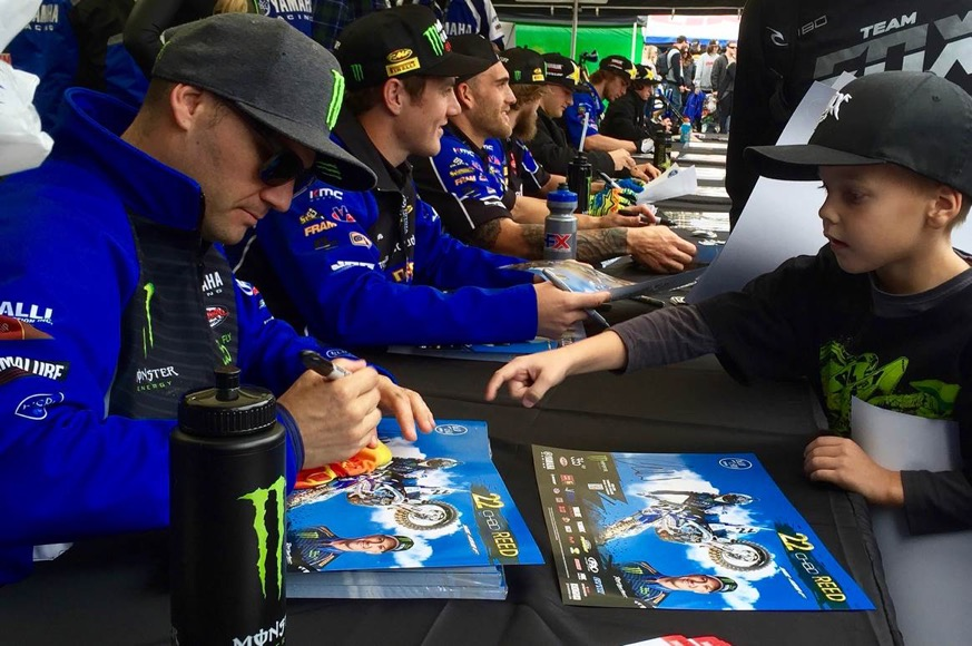 On the eve of the   Monster Energy Supercross   at   Ford Field   in   Detroit  ,  Jeremy Martin &    several   Yamaha  bLU cRU  Supercross riders   will be making an appearance and signing autographs at   Rosenau Powersports   in nearby   Dearborn Heights, MI  .    Details are as follows:         Friday, 3/18/16 from 6:00 PM to 7:00 PM          Rosenau Powersports    24732 Ford Road Dearborn Heights, MI 48127     313-278-5000      http://  www.RosenauPowersports.n et