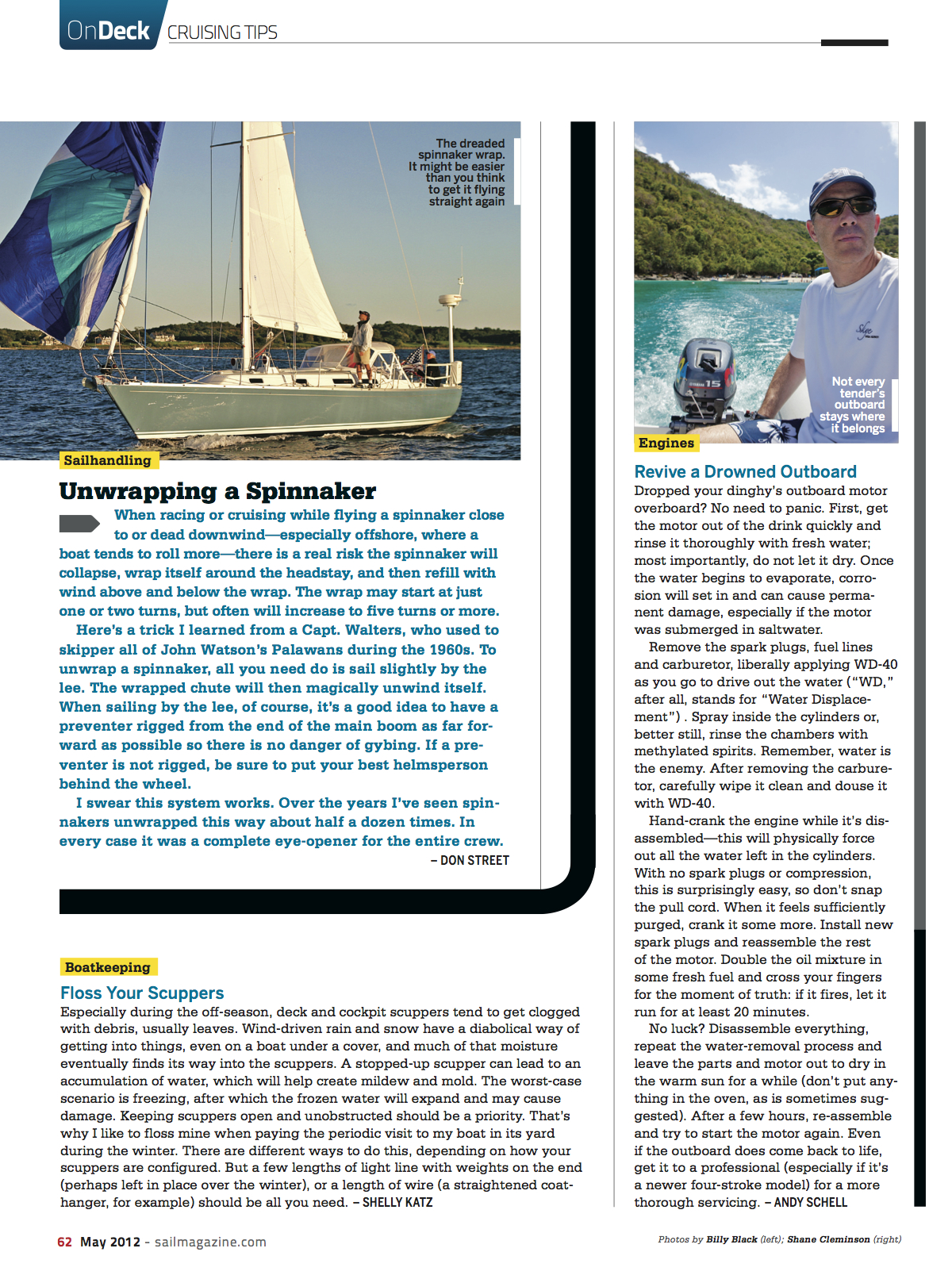 SAIL: Rescue a Drowned Outboard
