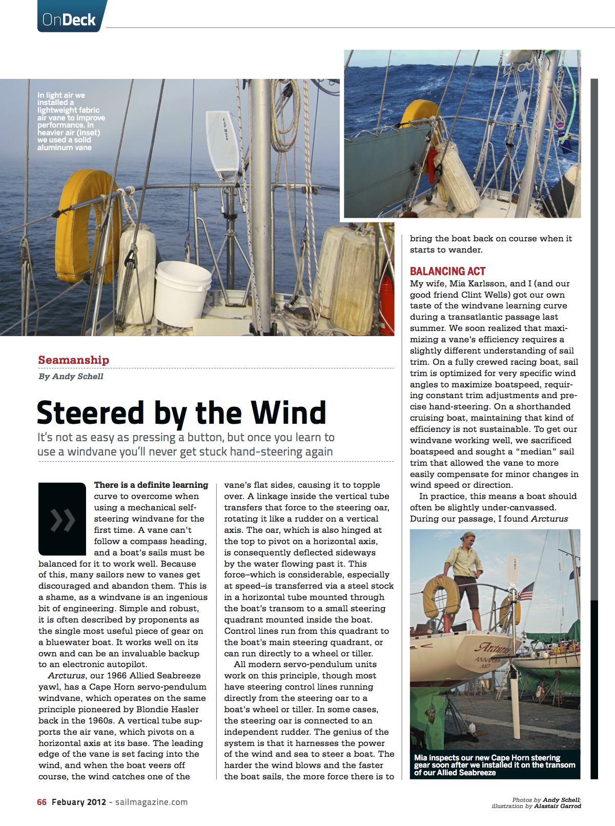 SAIL: Steered by the Wind