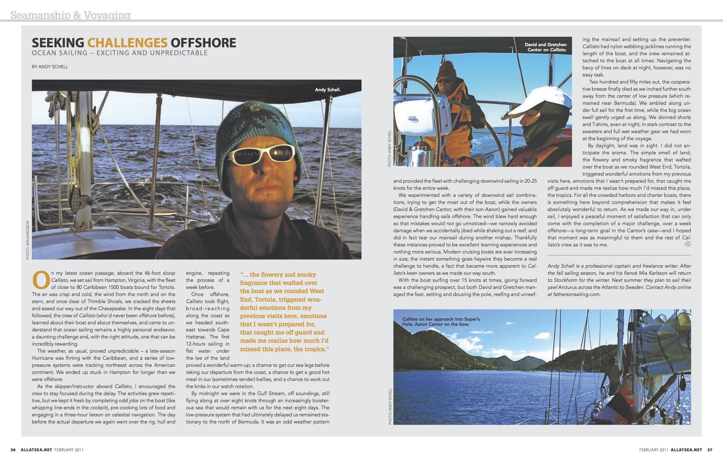 February 2011, Seeking Challenges Offshore