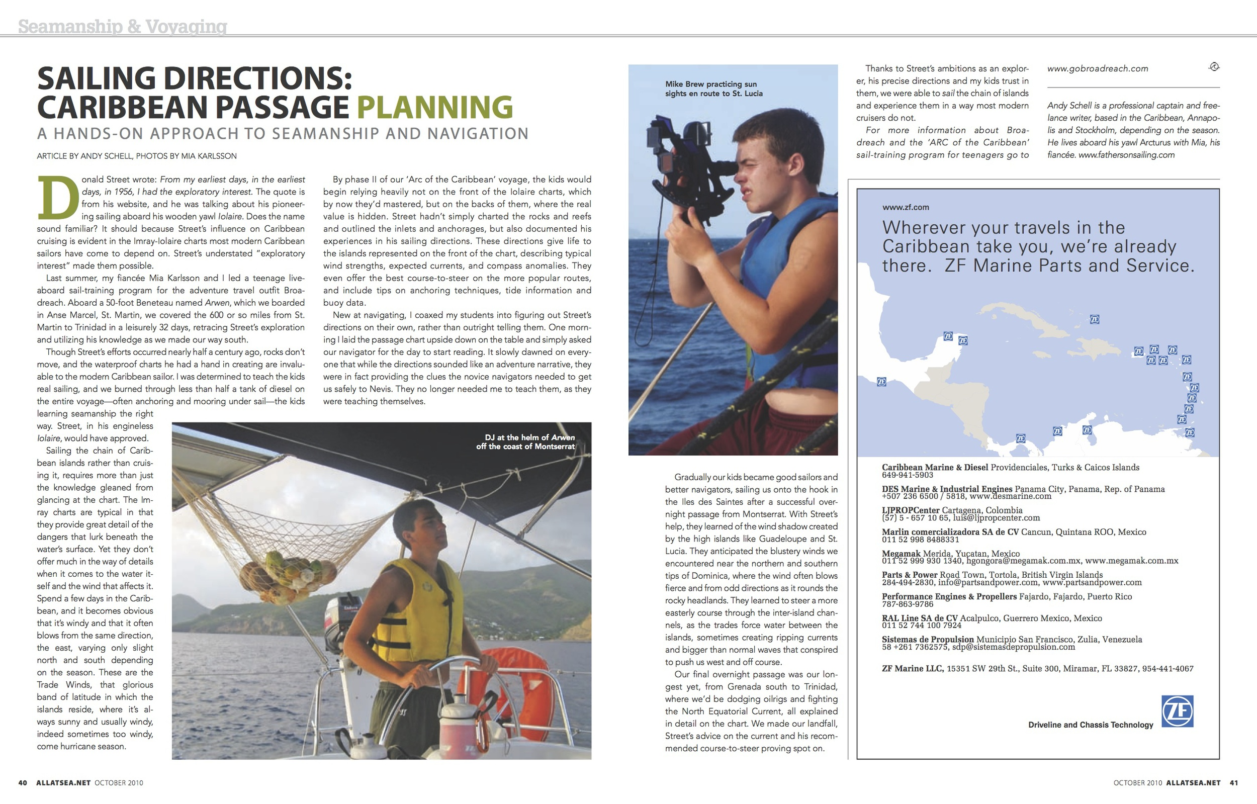October 2010, Sailing Directions: Caribbean Passage Planning