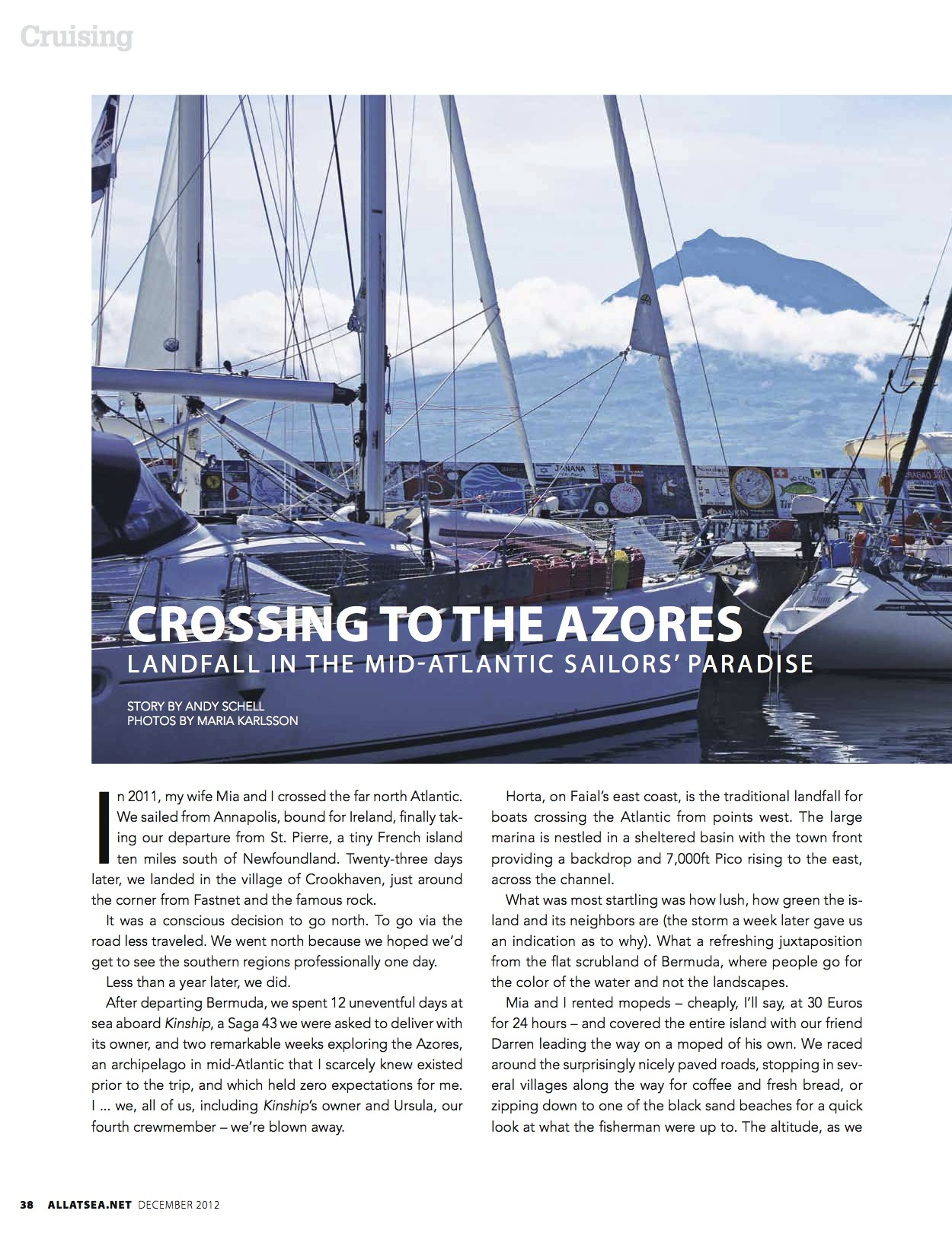 December 2012, Crossing to the Azores