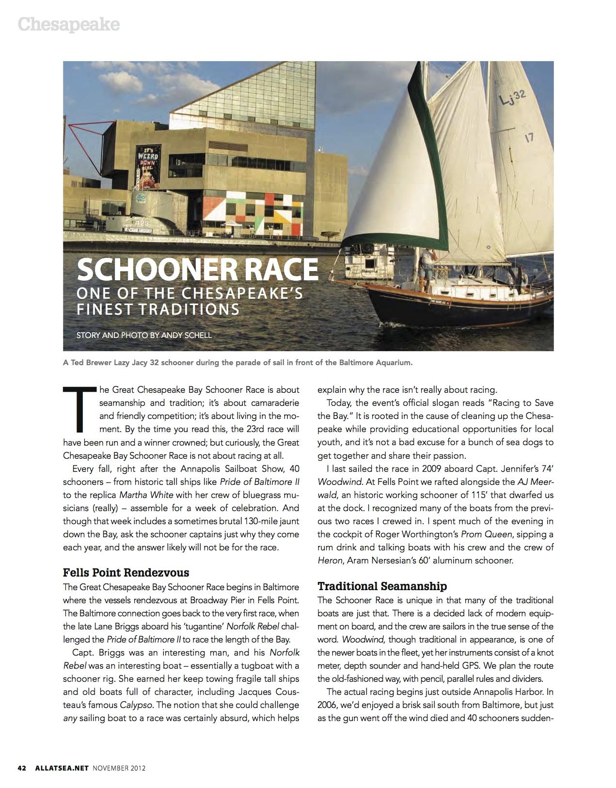 November 2012, Schooner Race