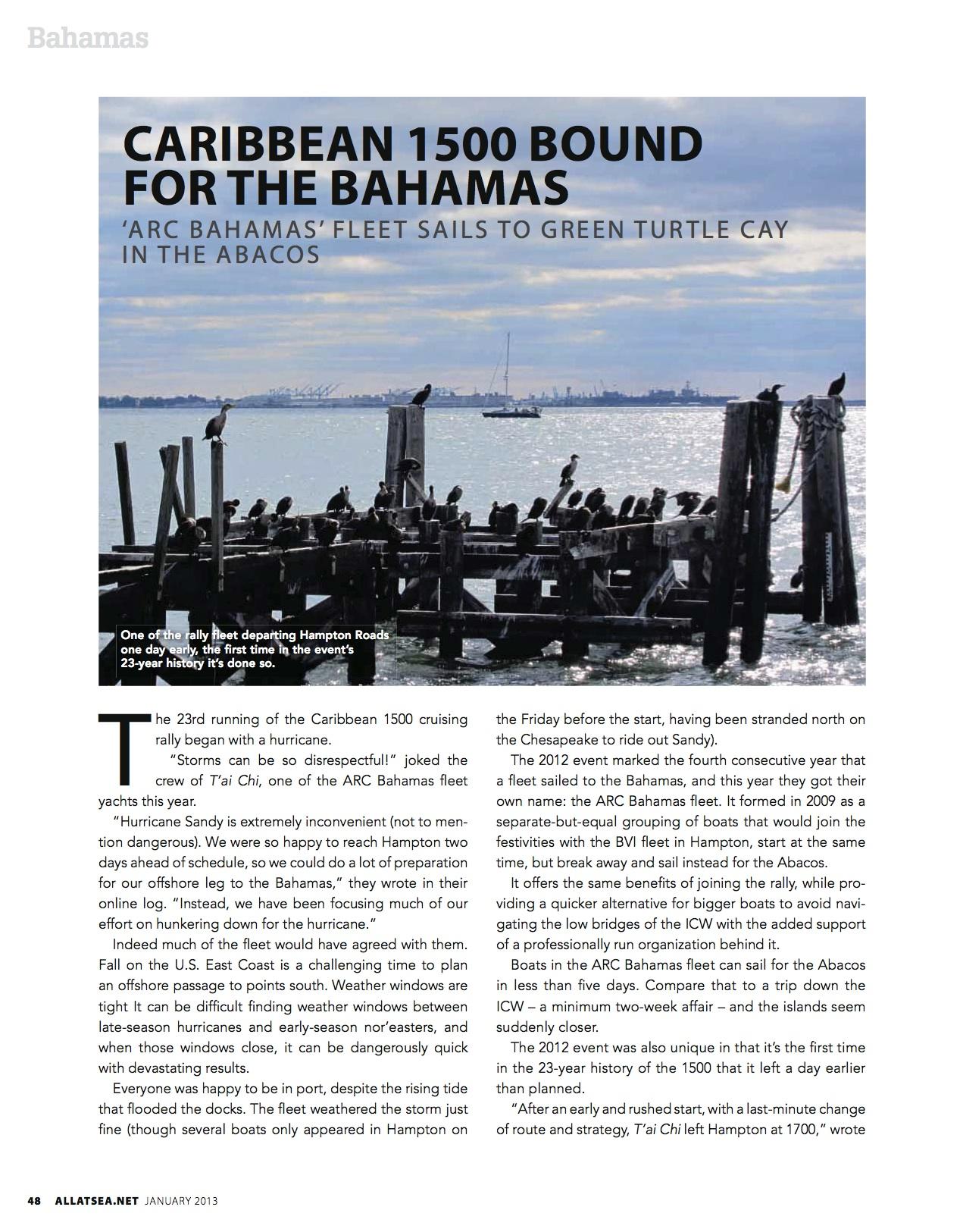 January 2012, Caribbean 1500