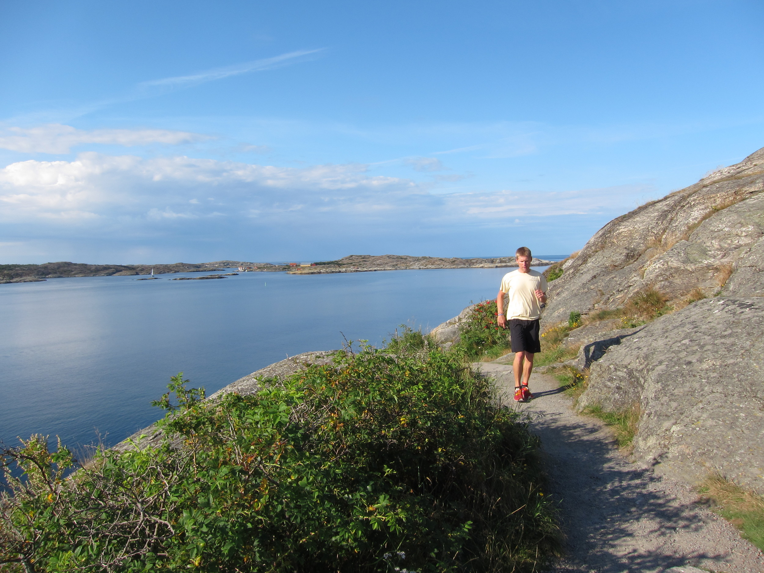 Running in Marstrand, on the west coast of Sweden.
