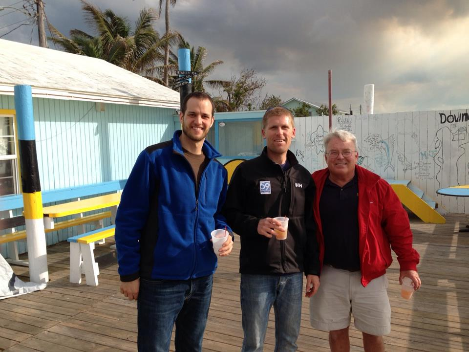 Andy Staus, Any and Dennis, last drink before departure