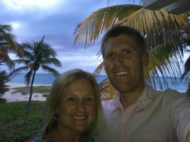Andy and his sister Kaitie in Florida before Andy flew over to Bahamas.