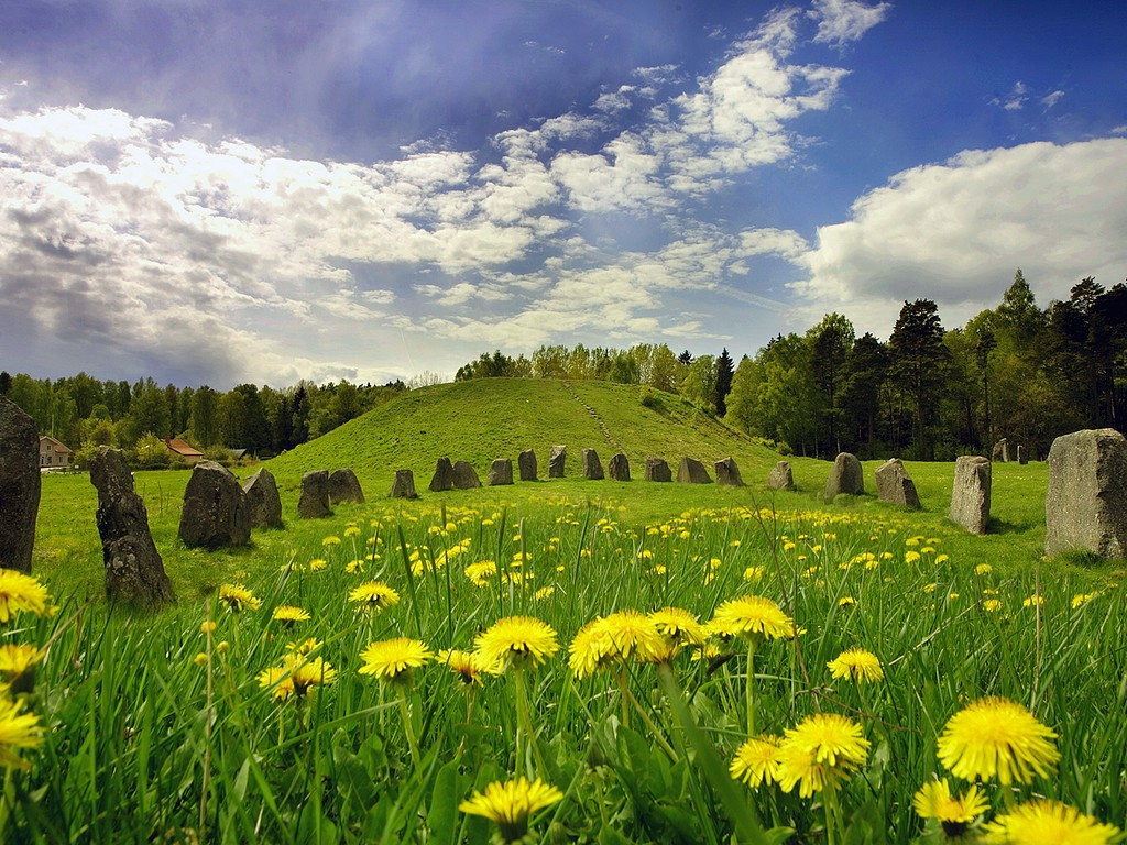 The Viking site outside Västerås