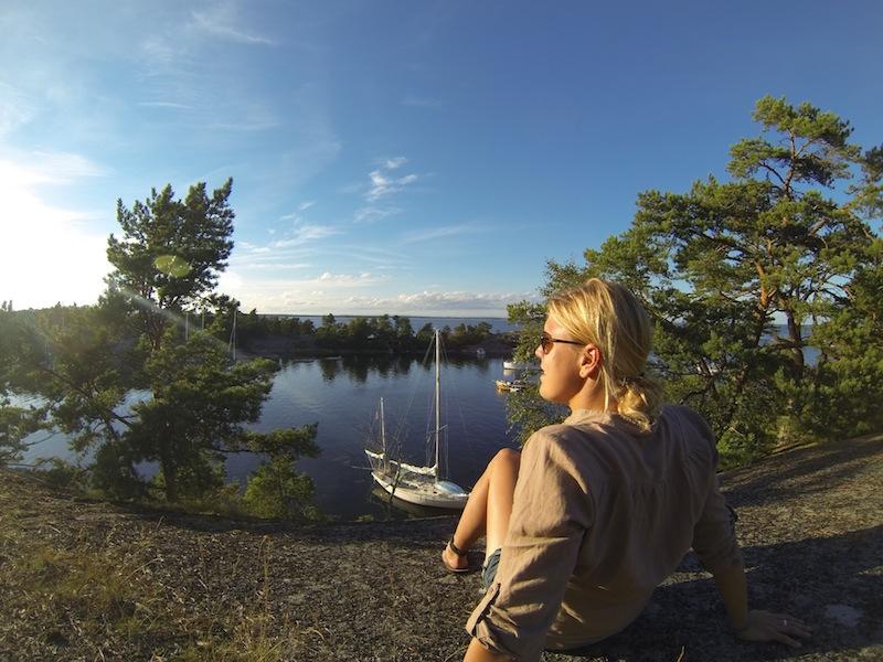 Nice view over the harbor in Biskopsön.