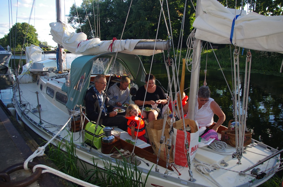 Family dinner in Enköping...we started this cruise where last years ended.