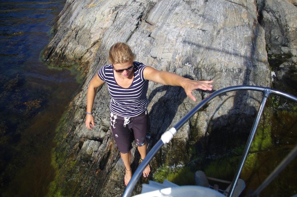 Swedish mooring in the archipelago. Welcome aboard, Mia!