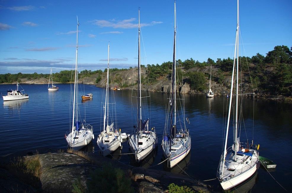 Biskopsön mooring in the outer archipelago.