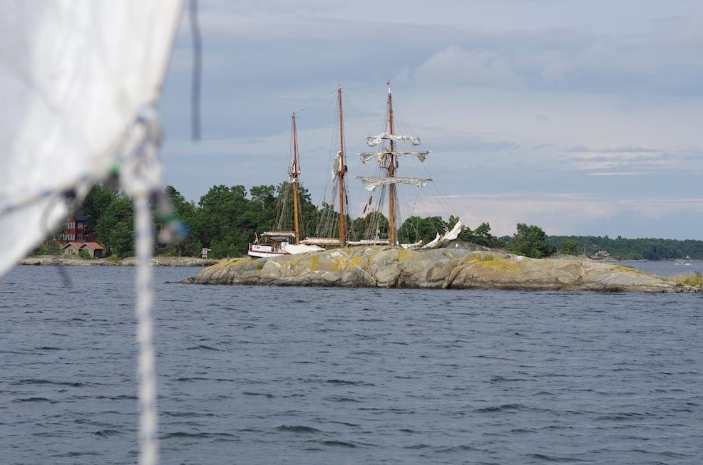 German sail training ship outside Möja.