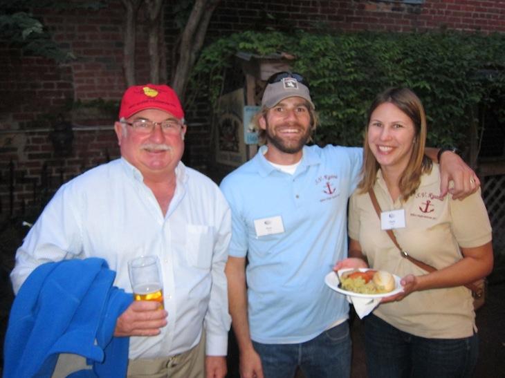 Ron Horton & the crew of Ryana at Bier Garden