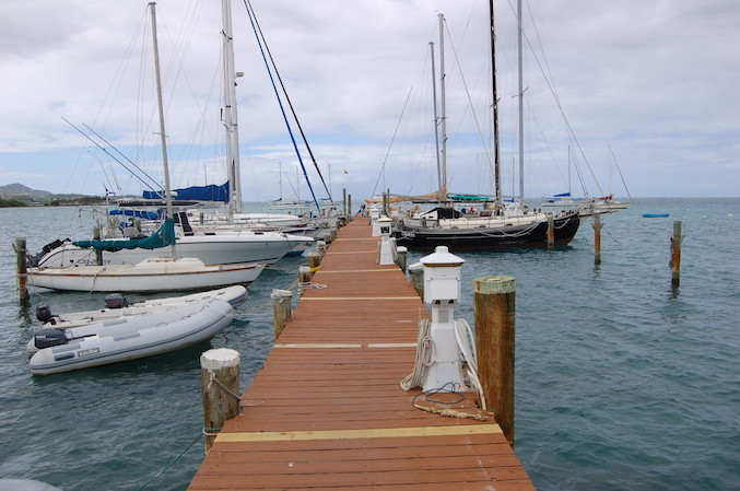 Jones Maritime dock where we tied up for our St. Croix stay.