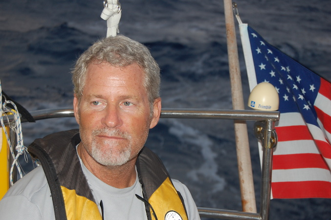 Tom Herrington, one of the best crew I've yet to sail with.