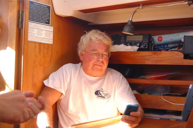 Dad, your iPhone doesn't work offshore!