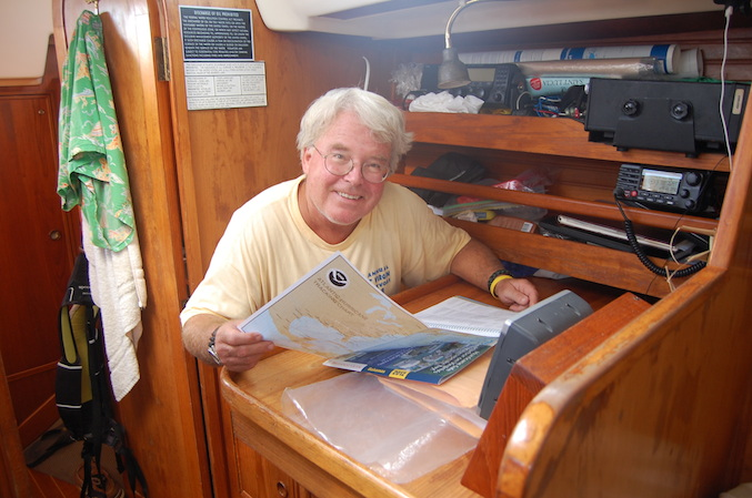 Navigating at the nav station (where it's meant to be done!).