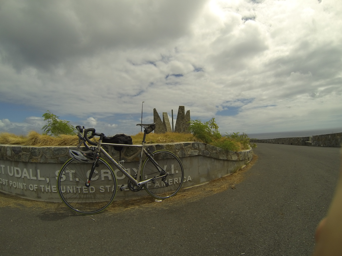 Point Udall, the easternmost point in the USA. I made it there on my bike ride.