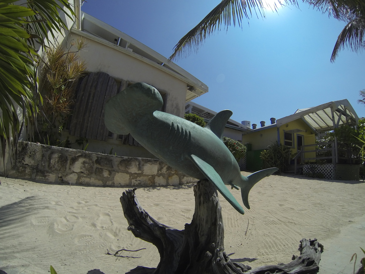 One of the many bronze statues outside the gallery and scattered around the property.
