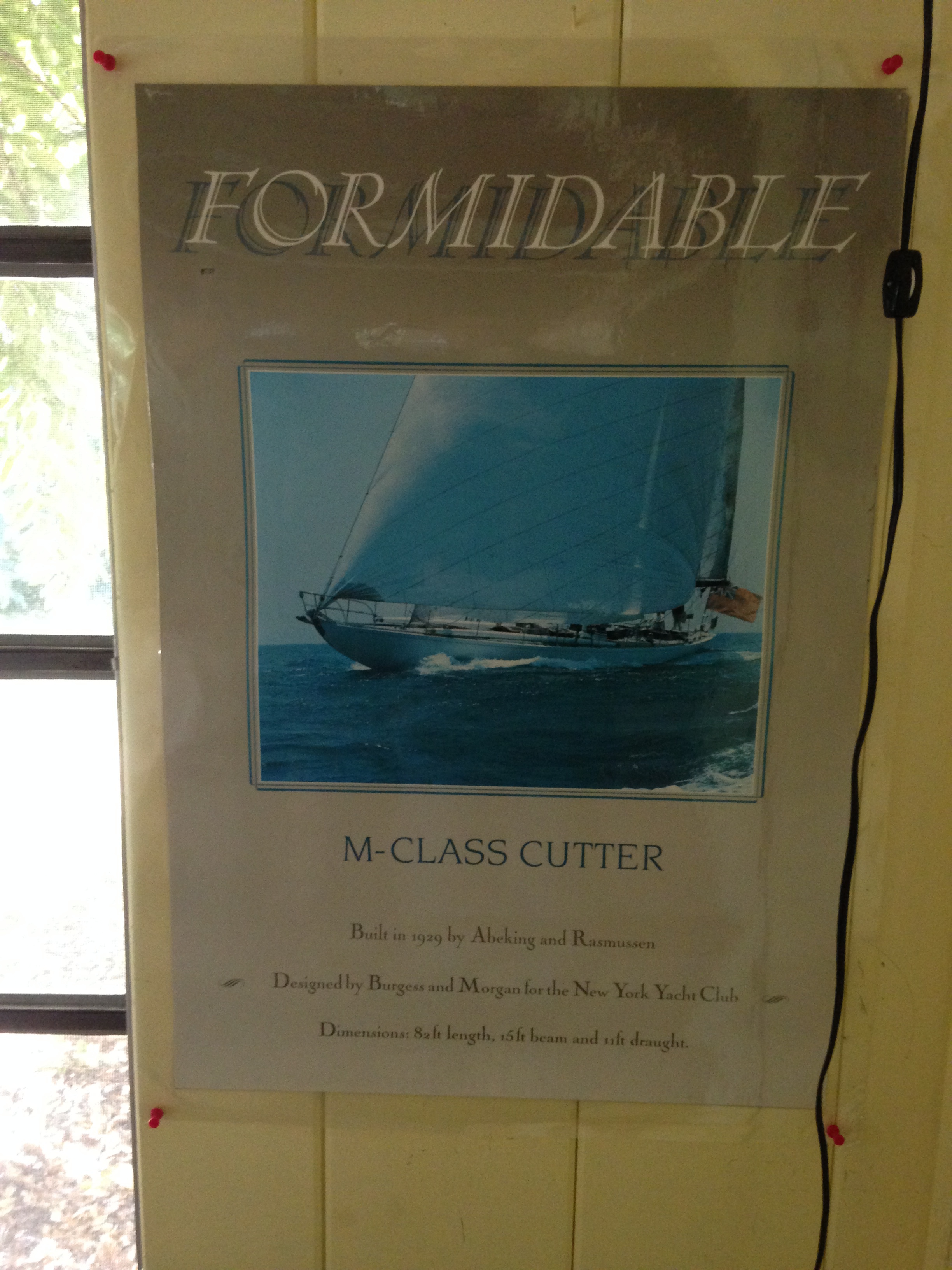 'Formidable' poster in Etienne's House