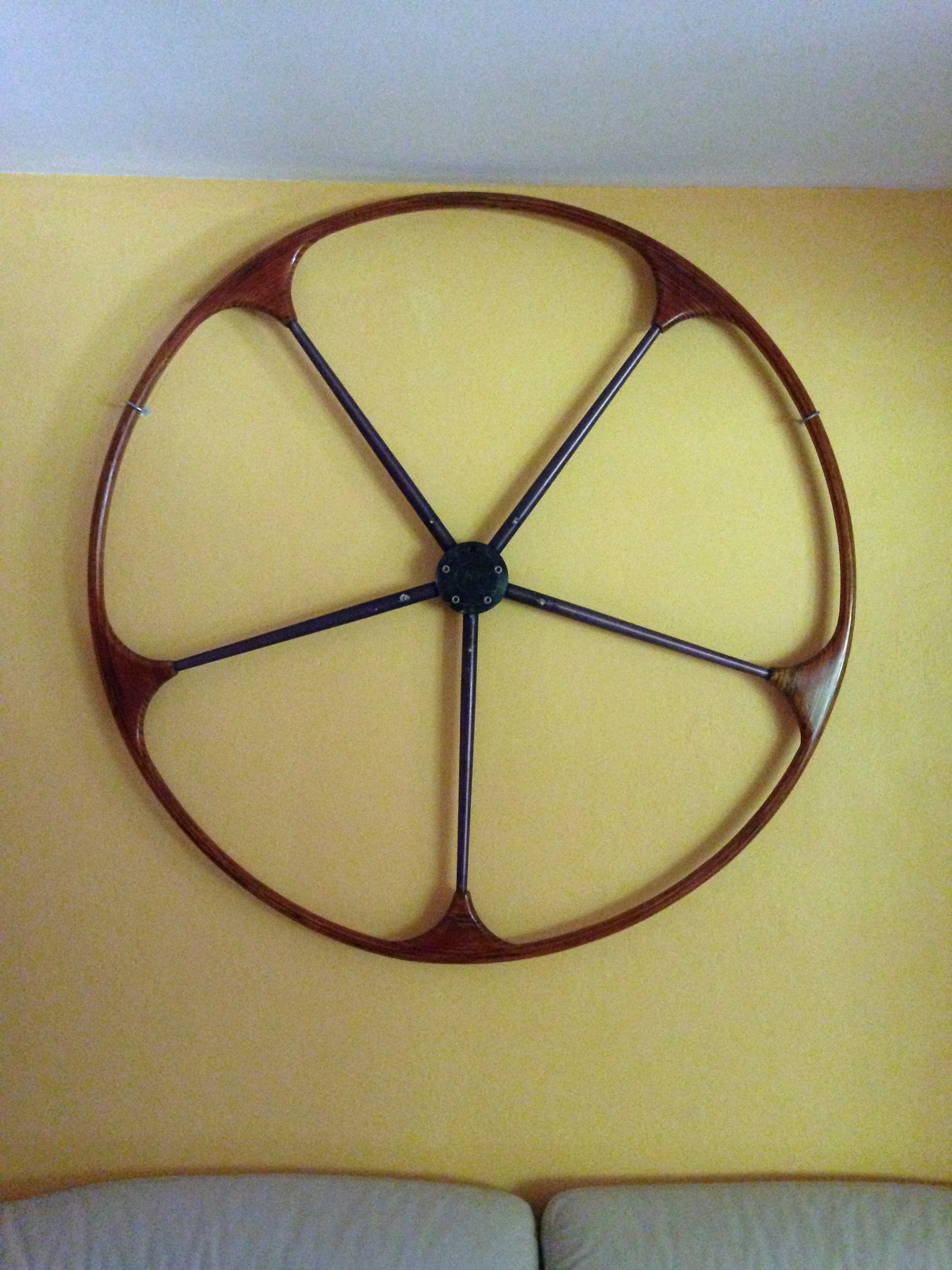 Wheel from one of Etienne's Boats
