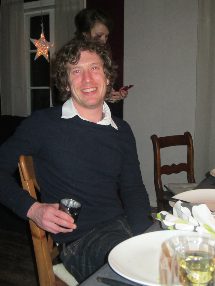 Clint Wells, one of my best friends, and part of the reason I'm married to Mia. This is New Year's Eve 2011 in Åland.