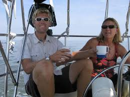 Andy and his mom Gail delivering a Corbin 39 to Newport in 2010 (?).