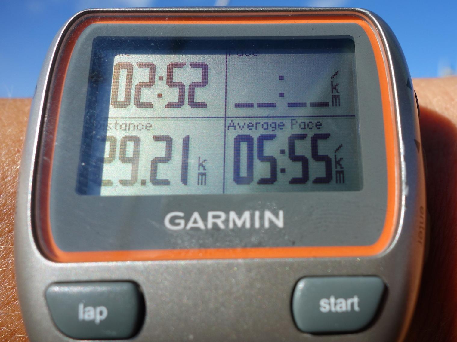 Klockan krånglade första km, så totlat 30 km runda!